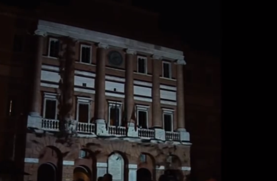 3d mapping Sisma Remixed - Inaugurazione Palazzo Comunale Foligno